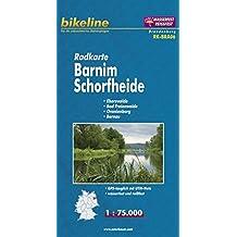 Bikeline Radkarte Barnim, Schorfheide 1 : 75 000: Eberswalde - Bad Freienwalde - Oranienburg - Bernau, wasserfest und reißfest, GPS-tauglich mit UTM-Netz