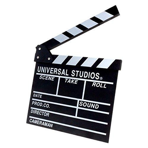 Regieklappe Regisseurboard Szenenklappe Synchronklappe Clapperboard Clapboard für TV Film Movie Cinema Kinoproduktionen Homevideo Kino Filmfans in Schwarz/Weiß 30 x 27 cm (Movie Clapboard)