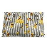 Federa Disney Winnie the Pooh mille righe con patella in 100% Cotone - 62x38 cm - Prima Infanzia - Made in Italy - Biancheria, Copricuscino Antisoffoco, Letto, Guanciale,