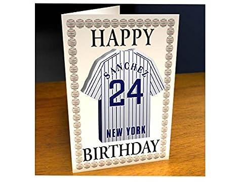 Ligue majeure de baseball–American Ligue MLB Jersey Cartes d'anniversaire–N'importe Quel