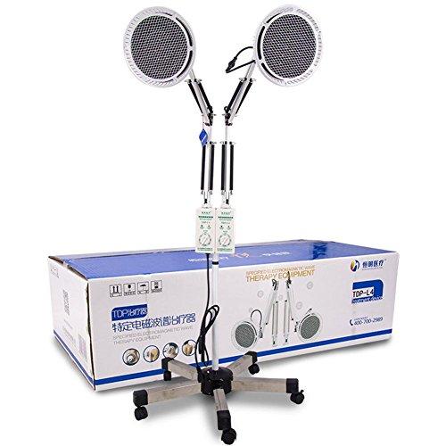 TDP Hitze Lampe Doppelt Kopf Physisch Elektromagnetisch Mineral Therapie Gerät zum Schmerzen Linderung Einstellbar Kopf Fußboden Stand Art 2x250W (Tdp-mineral-lampe)