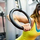 GOTOTOP Anillos de Gimnasia Profesionales (plástico ABS con Correas Regulables para Crossfit Fitness Ejercicio
