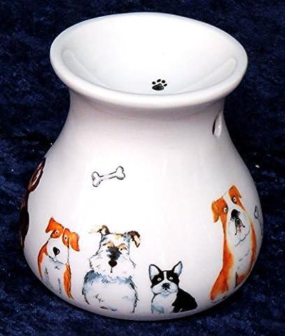 Dog wax melt burner Oil burner - Cute Dog pattern bone china oil burner