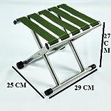 VALAMJI Outdoor Portable Folding Chair Camping Hiking Fishing Picnic Stool Chair Seat