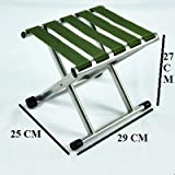#5: VALAMJI Outdoor Portable Folding Chair Camping Hiking Fishing Picnic Stool Chair Seat