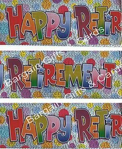 Happy Retirement Banner Pack Foil With Multi Dots Wall Decoration (BGC) 147 by BCBGMAXAZRIA (Dekorationen Party Retirement Für)