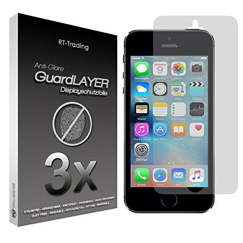 3x Apple iPhone SE - Display Schutzfolie Matt Folie Schutz Display Anti Glare Screen Protector Displayfolie - RT-Trading Iphone Anti Glare Screen Protector
