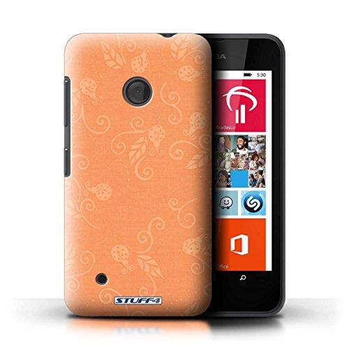 Kobalt® Imprimé Etui / Coque pour Nokia Lumia 530 / Rouge conception / Série Motif Coccinelle Pêche