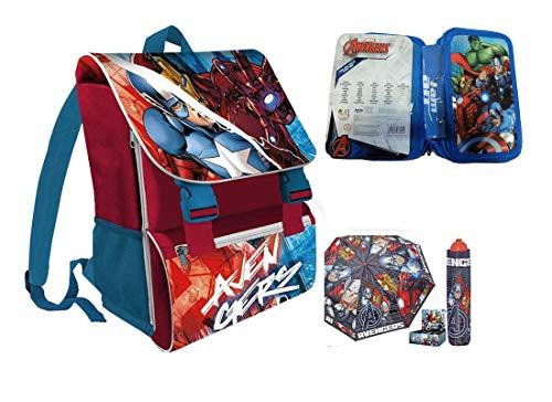 Irpot - set scuola n4 avengers zaino+ astuccio + ombrello
