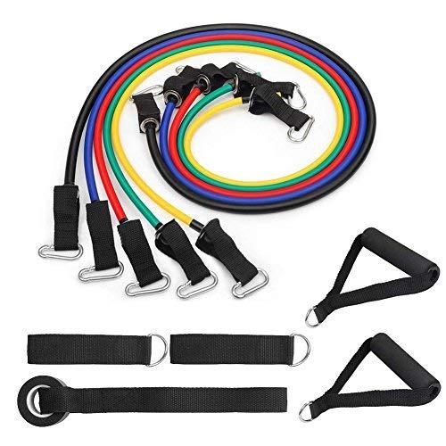 Band Set-stapelbar bis zu 36,3kg-für Widerstand Training, Physiotherapie, Home Training-mit Türanker, Griffe, Ankle Straps ()