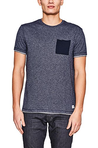 edc by ESPRIT Herren T-Shirt Blau (Navy 400)