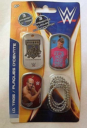 WWE Wrestler Dolph Ziggler Cesaro ID Dog Tags - Set D - 3 Count (Dolph Wwe-wrestler Ziggler)