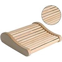 Sauna Pillow Wooden Sauna Headrest Practical Durable Arc Sleep Improving Headrest Comfortable Sauna Room Pillow For Bathroom Bedroom