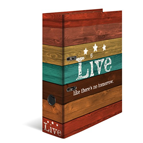 HERMA Live Caja de cartón Marrón, Multicolor - Carpeta de cartón (Almacenamiento, Caja de cartón, Marrón, Multicolor, Marrón, A4, 7 cm)