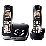 Panasonic KX-TG6522GB Duo Schnurlostelefon mit Anrufbeantworter schwarz