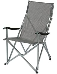 Coleman Summer - Silla plegable, color gris y plateado