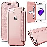 Coque iPhone 7 Housse iPhone 7 GrandEver Etui Wallet Flip Cover + Transparente Clair...