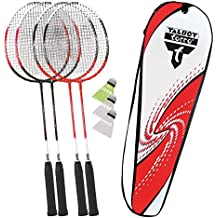3 Teilig Badminton Set Badminton Set 2x B/ädmintonschl/äger Badminton Schl/äger Set mit 1x Federball B/älle auch f/ür Kinder