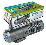 All Pond Solutions Sistema Bomba, Fuente y Filtro UVC para Estanque, 9W (CUP-359 2000L/H)