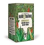 Heath & Heather Té Verde Biologico Aromatizzato con Aloe Vera - 1 x 20 Bustine di Té (40 Gram)
