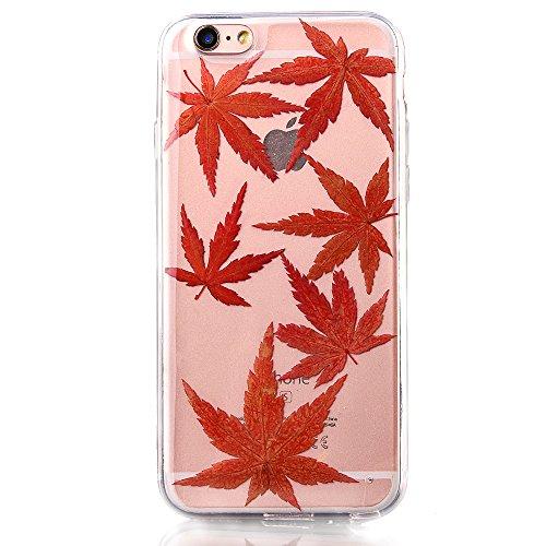 """iPhone 6s Schutzhülle, iPhone 6 Soft TPU Handytasche, CLTPY Modisch Durchsichtige Rückschale im Getrocknete Blumenart, [Stoßdämpfung] & [Kratzfeste] Full Body Case für 4.7"""" Apple iPhone 6/6s + 1 Stylu Flower 19"""