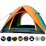 3-4 Personne Double Couche De Camping Tente avec Double Porte Extérieur Auvent...