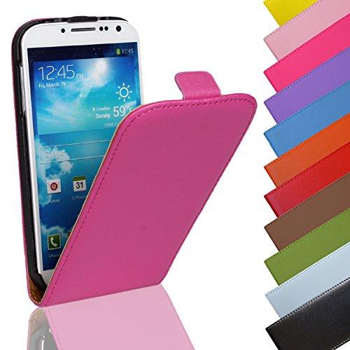 EximMobile - Flip Case Handytasche für Samsung Galaxy Mega 6.3 in Pink | Kunstledertasche Samsung Galaxy Mega 6.3 Handyhülle | Schutzhülle aus Kunstleder | Cover Tasche | Etui Hülle in Kunstleder
