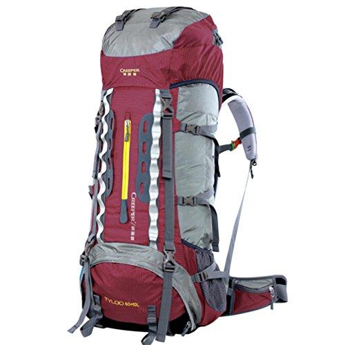 Taschen lose Langstrecken Wandern Camping Reisen Kletterrucksack purple brown