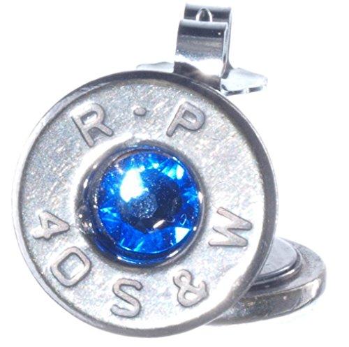 beschichtete Ohrstecker mit Swarovski-Kristallen, Hellblau (R-P) ()
