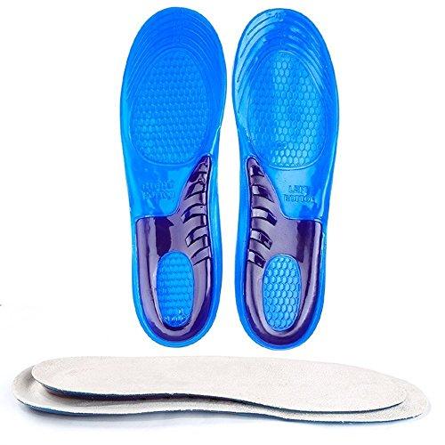 Hommii Arch Support Silikon Gelsohlen Orthesen Schuheinlagen Massagesohlen Einlegesohlen Stoßdämpfung Atmungsaktiv Schweiß Deodorant für Herren