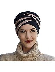 Turbante Shanti con bambú negro y marrón para mujeres con alopecia