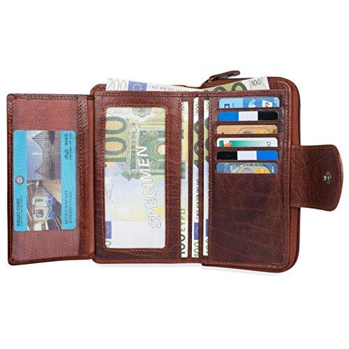 ... STILORD  Lena  Portafoglio donna pelle vera vintage portamonete grande  borsellino lungo portafogli per carta 8d8f8d95599