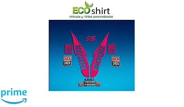 Ecoshirt 7X-OM0L-7IWZ Pegatinas Stickers Fork Rock Shox SID WC World Cup 2017 Am174 Aufkleber Decals Autocollants Adesivi Forcela Rosa