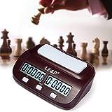 HAPQIN Leap PQ9907S Reloj de ajedrez Digital I-go Count Up Down Timer para la Competencia de Juegos