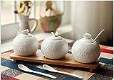 Kreative Keramik Gewürzdose Gewürzkasten Drei Element Set Küche Zubehör