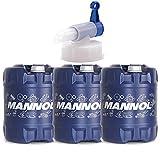 MANNOL 3 * 20 Liter + Auslaufhahn, 4-Takt Agro SAE 30 API SG Rasenmäheröl