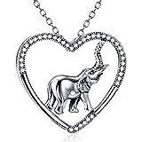 BBYaki S925 Silber, Exquisite Elefanten Anhänger Halskette, Herren Damen Accessoires, Beste Geschenk