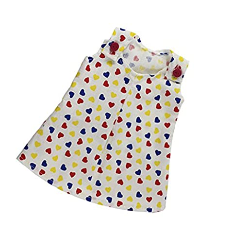 MagiDeal Colorful Hearts Print Skirt Dress for 18'' American Girl Our Generation Doll