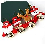 HUADEYI Campanas de Navidad Viejo Ciervo de la Nieve, decoración de Navidad, decoración del árbol de Navidad, Ornamento 4 Paquetes