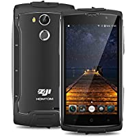 ZOJI Z7 LTE 4G Smartphone Ohne Vertrag (Android 6.0, IP68 Wasserdicht Outdoor Handy, 2GB Ram+16GB Rom, Dual-SIM Quad-Core, 5,0 Zoll Touch-Display, Dual Kamera 13MP+5MP, Fingerabdruck GPS ) - Schwarz