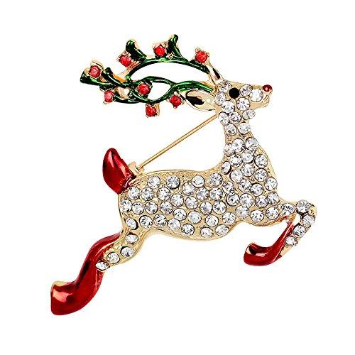 ier Kristall Weihnachten Brosche Xmas Geschenk für Weihnachtsschmuck Ornaments Geschenke (Diy-gothic-halloween-dekoration)