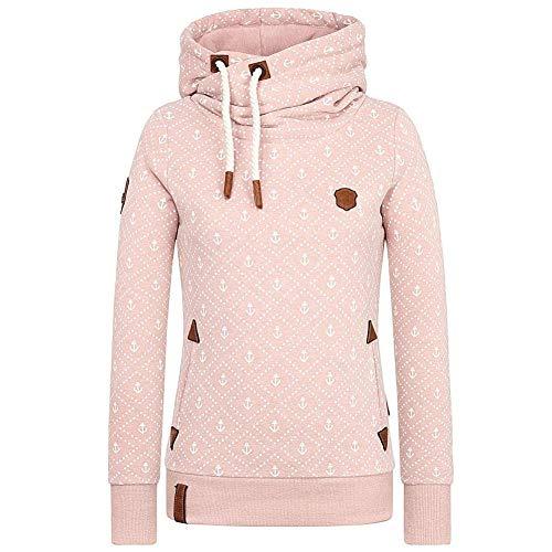 Hoodie Damen Kapuze Lang Kapuzenpullover Langarm Winter Pullover