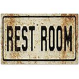 Sehaz Artworks 'Rest Room' Rectangular Wall Sign (Wooden, 30 cm x 20 cm x 1 cm)