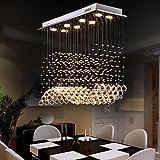 8-Licht Kristall Kronleuchter Moonlight - Kristall, Inklusive Glühbirne, Designer, 110-120V / 220-240V, Wärm Weiß/Kühl Weiß, Inklusive
