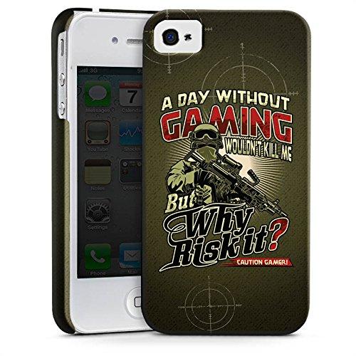 Apple iPhone X Silikon Hülle Case Schutzhülle Gaming Spruch Gamer Premium Case glänzend