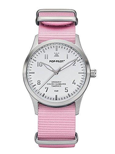 Pop Pilot Damen Analog Quarz Uhr mit Stoff Armband Cuz T01