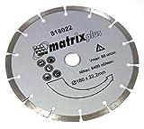 AERZETIX: Disco de diamante para amoladoras angulares de corte en seco 180mm