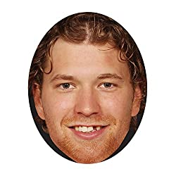 NHL Philadelphia Flyers Claude Giroux Face Mask, 12-Inch x 9-Inch, Black