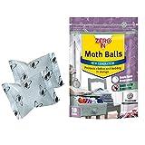 Mottenkugeln (Mottenkugeln gegen Motten, Larven und Eier in Kleiderschränken, effektiv für bis zu 3Monate)–10Stück