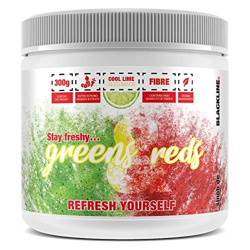 sinob Greens & Reds - Super Food Pulver. Vegan & Reich an Ballaststoffen. 1 x 300g
